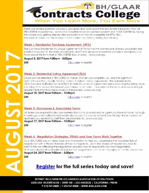 Contract College Part Ii Residential Listing Agreement Event On