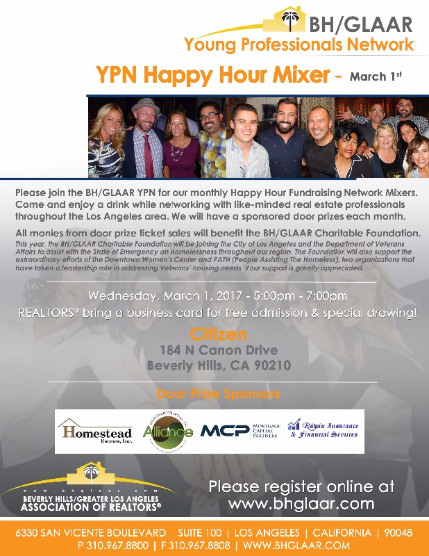 Ypn happy hour mixer citizen event on bhglaar reheart Gallery